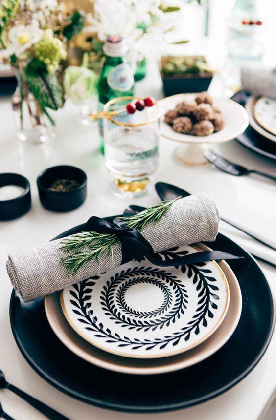 tendances table fête noel 2017