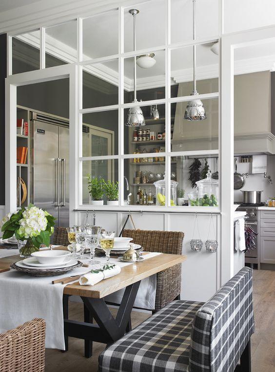 verrière blanche cuisine