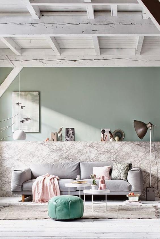 salon décoration pastel