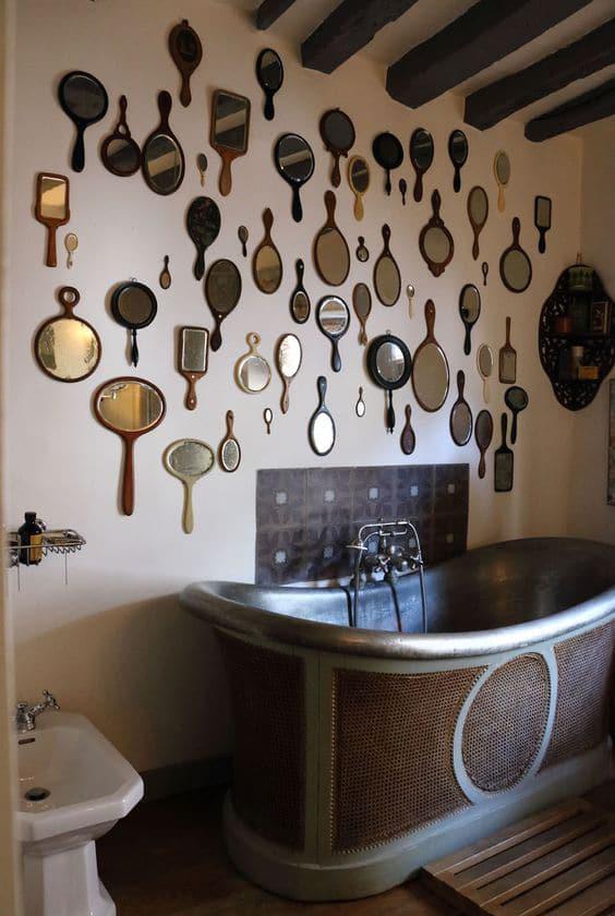 miroir vintage brocante