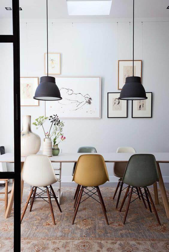 chaises de couleur