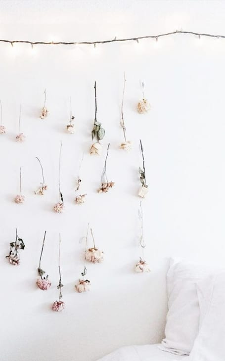 déco murale fleurs séchées