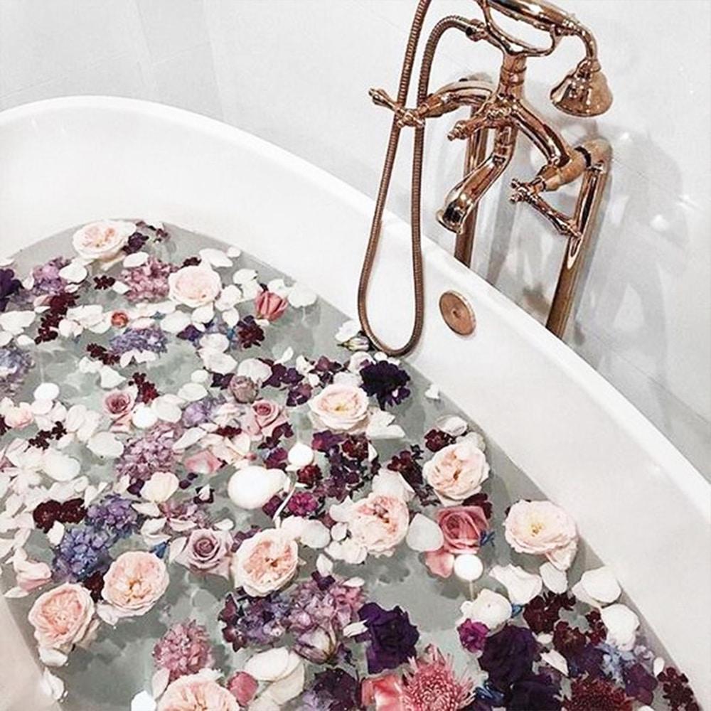 décoration bain saint valentin