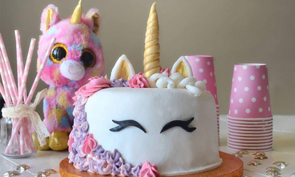 gâteau anniversaire licorne