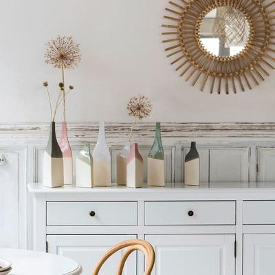 bouteilles décoratives pastel céramique