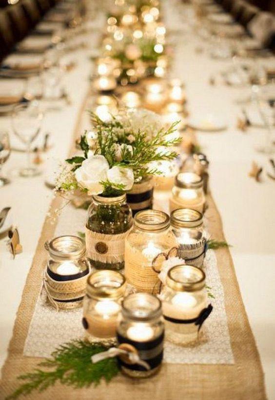 décoration de table bougies