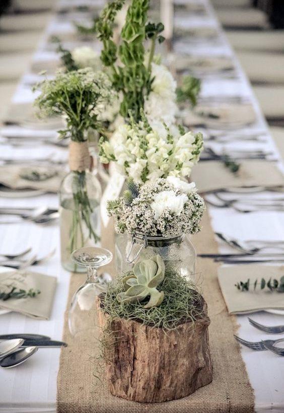 déco de table fleurie