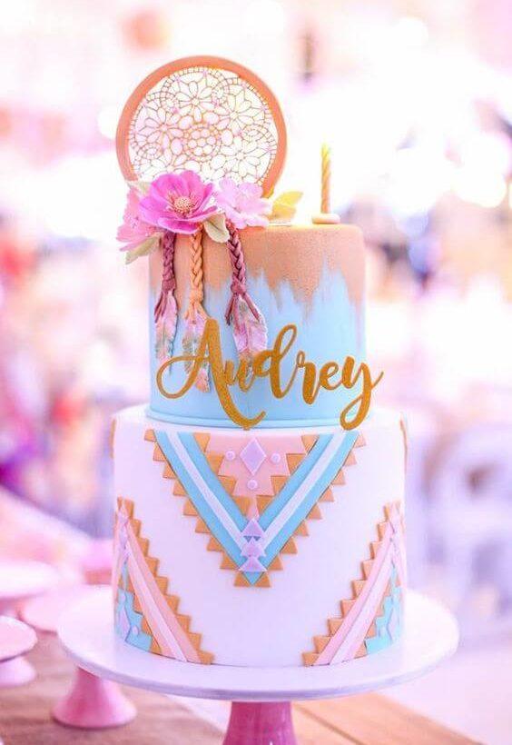gâteau d'anniversaire pastel