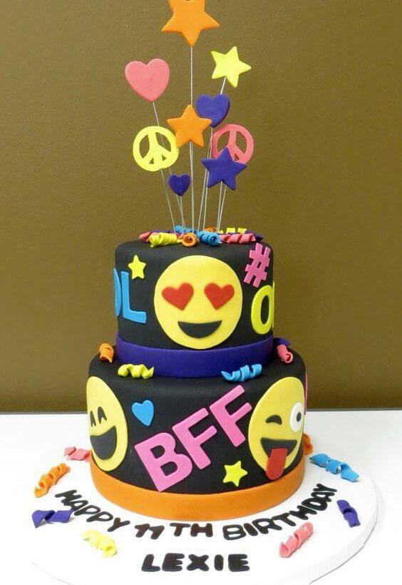 gâteau d'anniversaire smiley