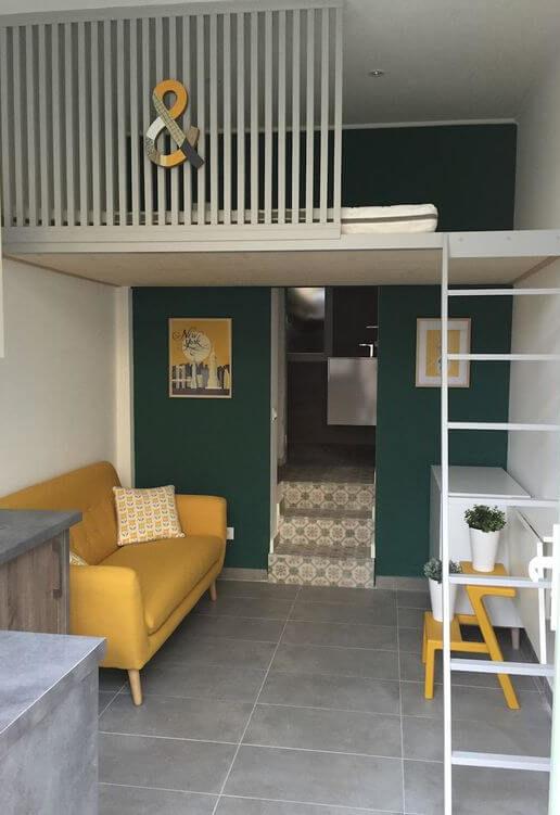 mezzanine chambre studio