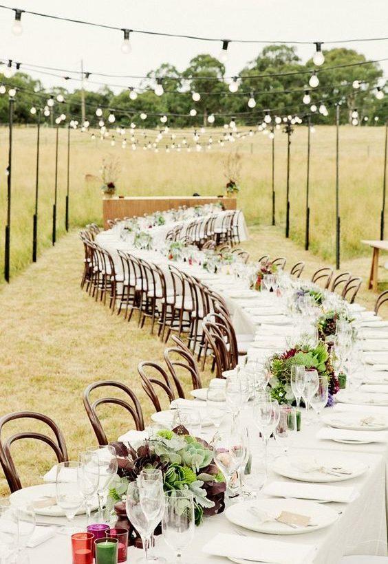tables mariage décoration champêtre