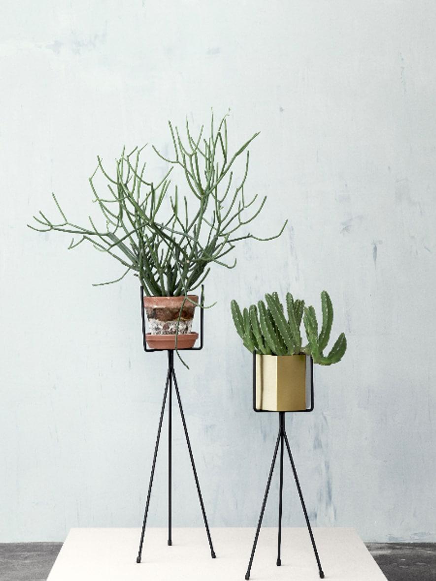 support plantes art déco