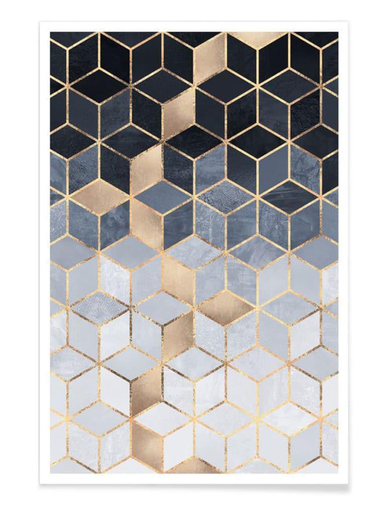 tableau cube art déco