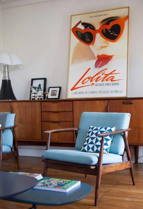 affiche salon vintage