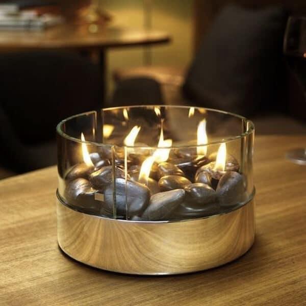 cadeau original cheminée de table