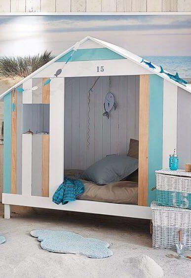 cabane lit déco bord de mer
