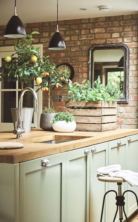 décoration intérieure cuisine rustique