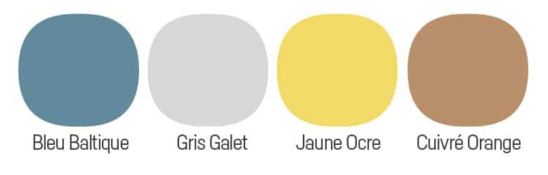 couleurs tendance scandinave colorée