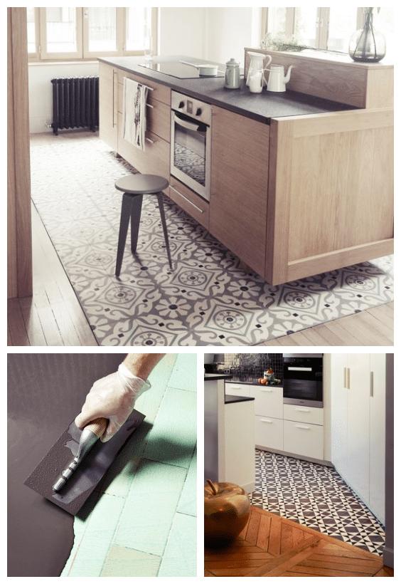 rénovation sol de cuisine