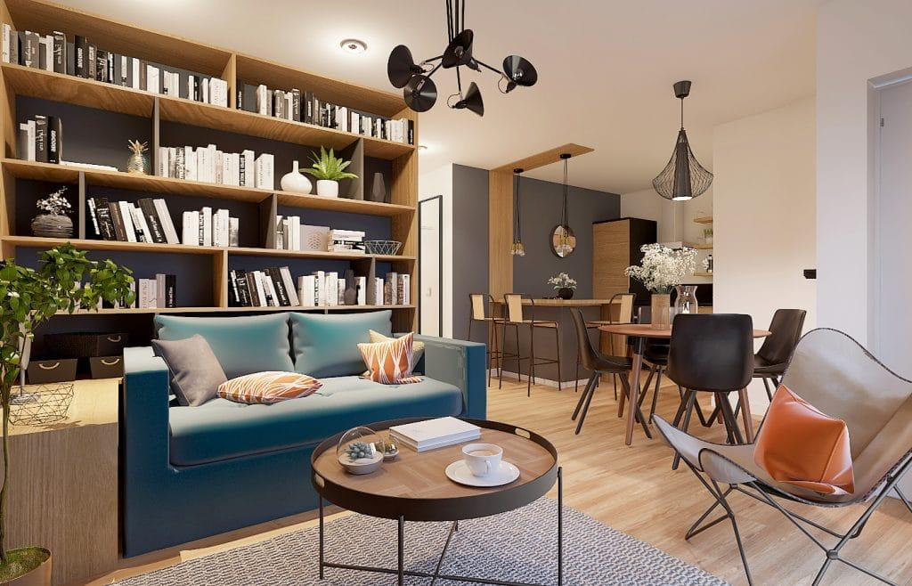 appartement bibliothèque