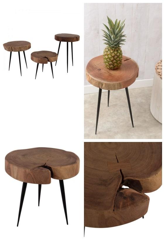 table tronc de bois