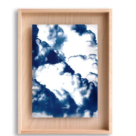 Cadre bois nuages