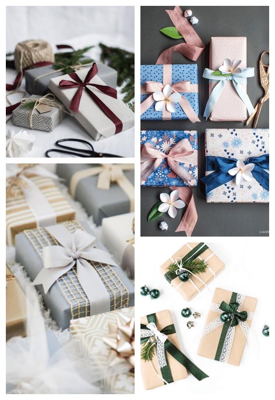 emballages cadeaux assortis