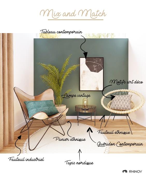 décoration mix and match