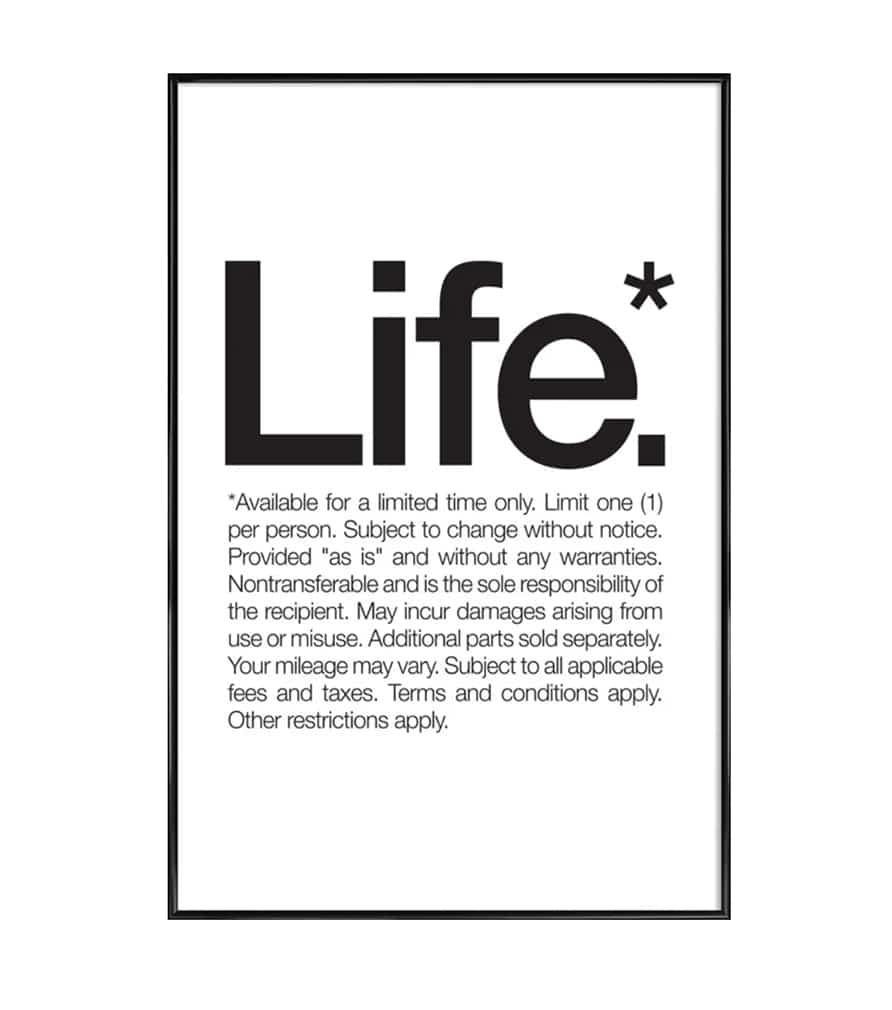Affiche LIFE