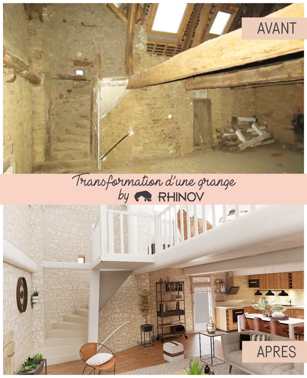 rénovation de grange par Rhinov