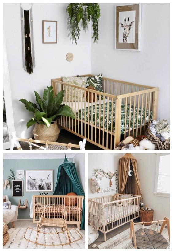 lit bébé chambre jungle