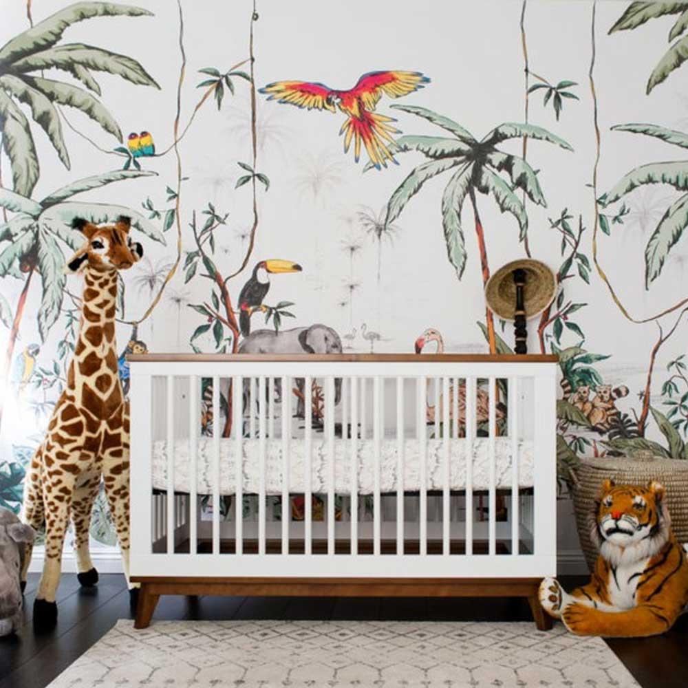 chambre bébé déco jungle