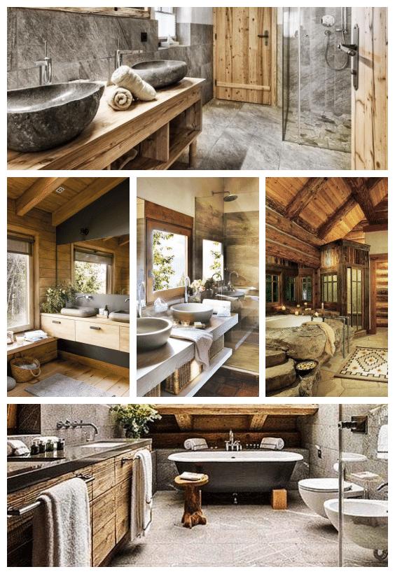 salle de bain déco chalet