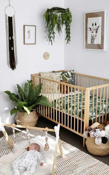 lit bébé bois
