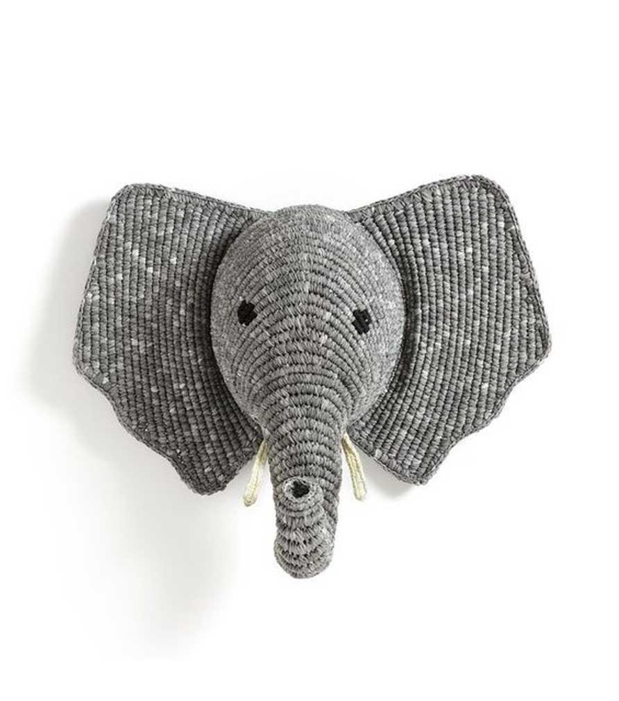 Trophée mural éléphant