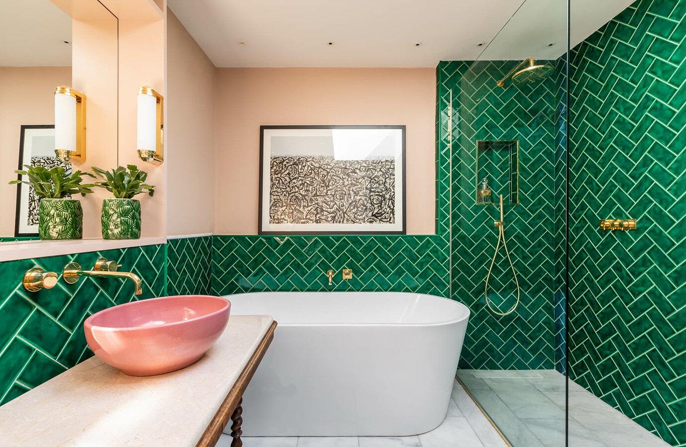 decoration salle de bains art deco
