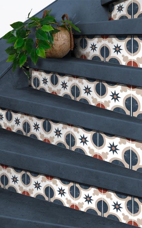 carreaux de ciment escalier