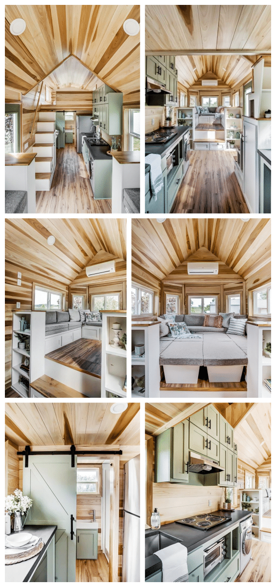 aménagement mini maison en bois