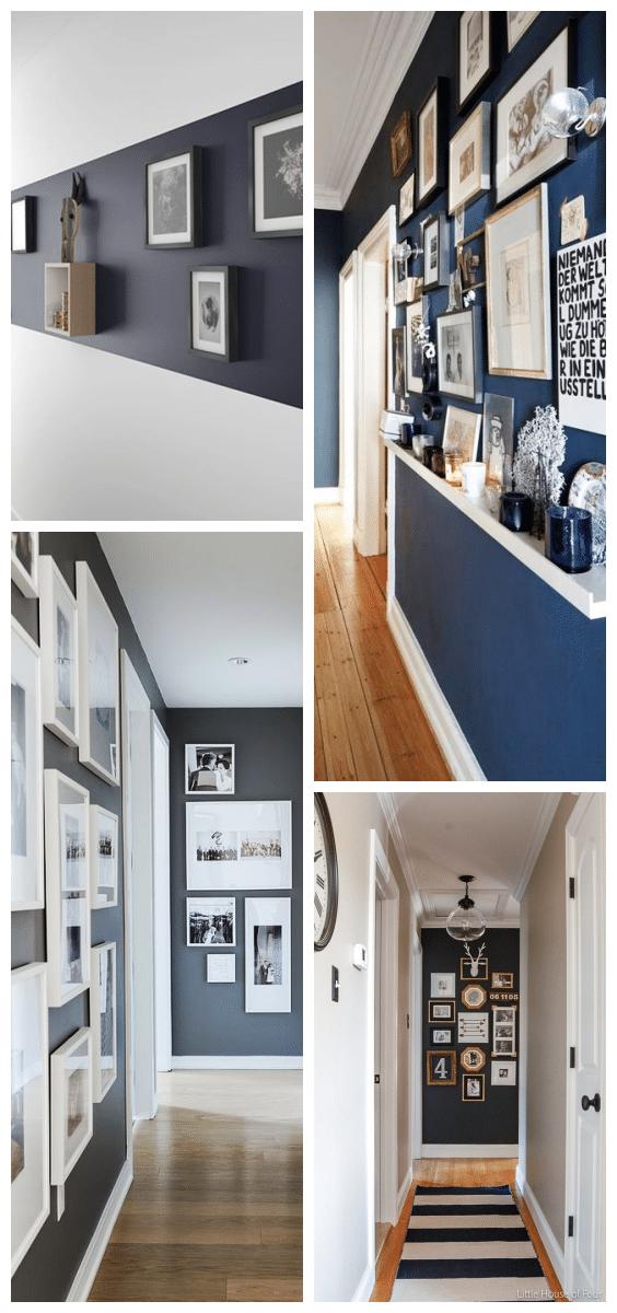décoration couloir cadres