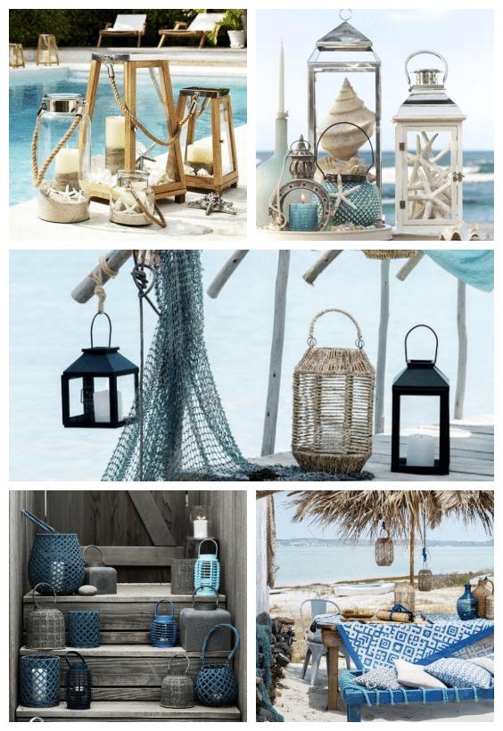 lanternes ambiance bord de mer