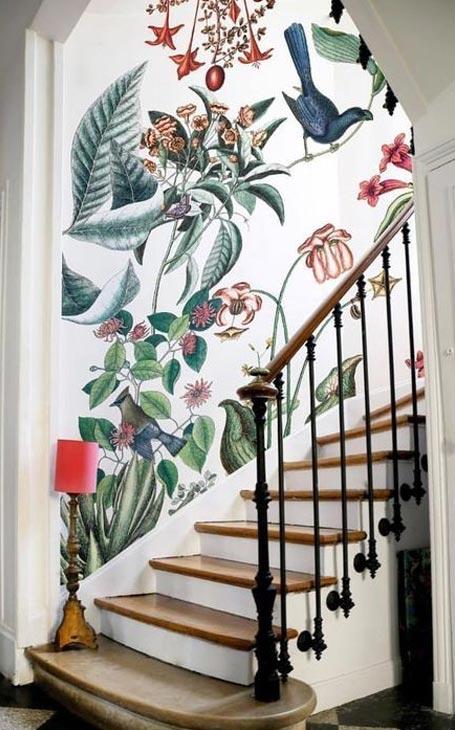escalier murs