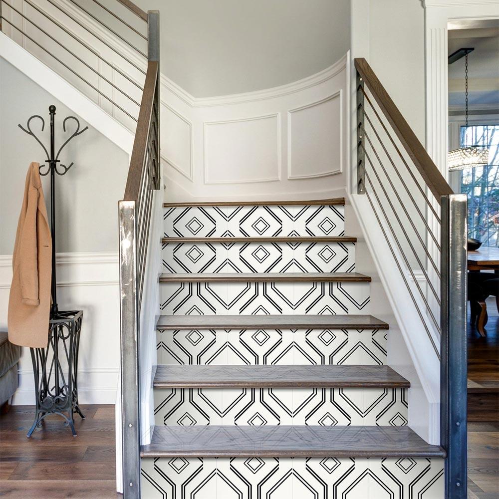 motifs géométriques escalier