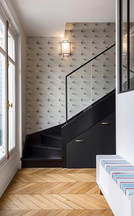 déco escalier noir