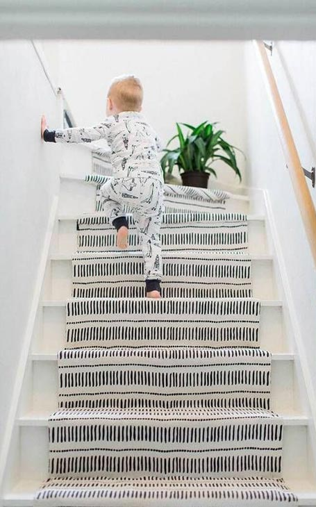 tapis central escalier