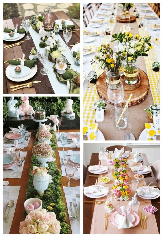 décorations de table pâques