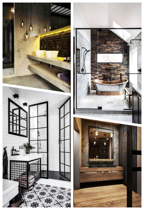 décoration industrielle salle de bains