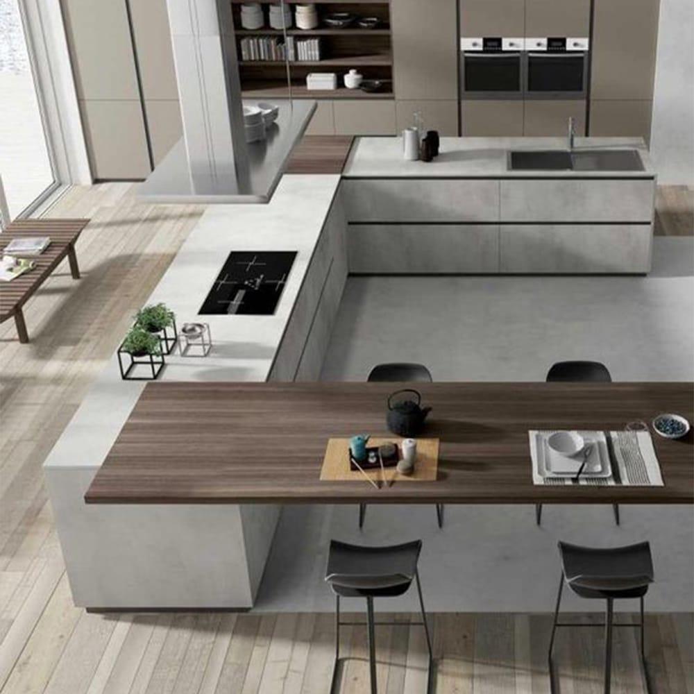 cuisine moderne ilot en bois