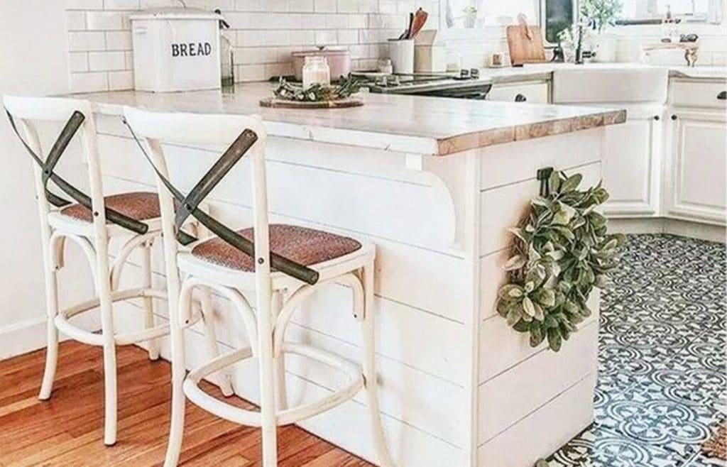 bar de cuisine blanc