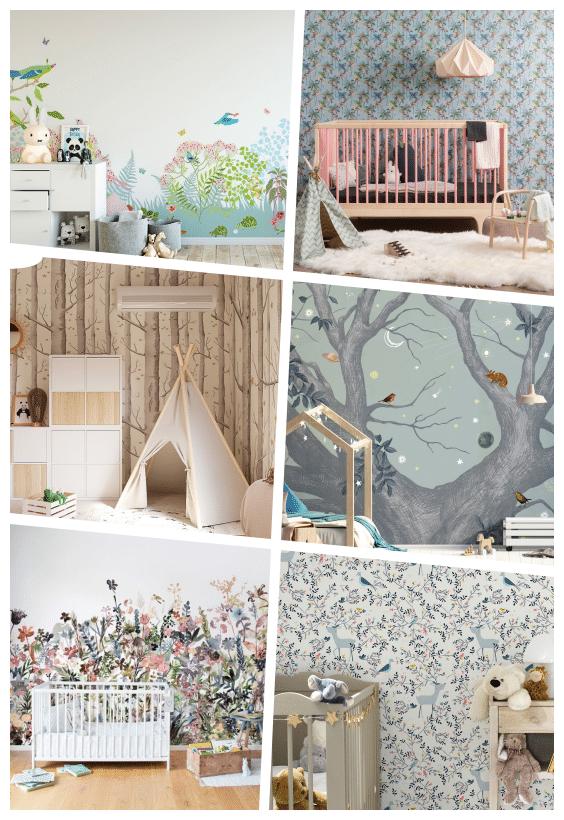 papier peint nature chambre enfant
