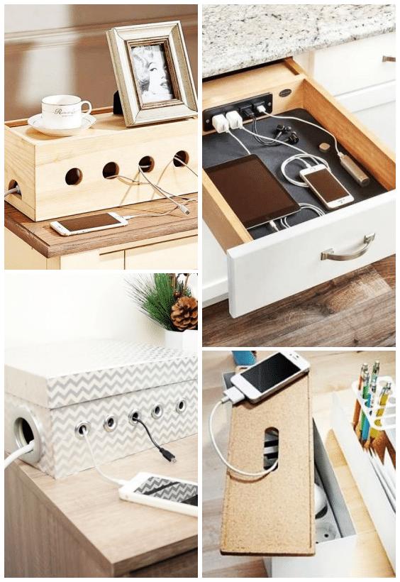 camoufler les câbles, tiroirs, boîte, DIY